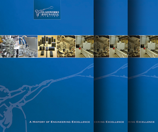 Glassworks Hounsell Ltd Engineering Brochure Design Covers Image